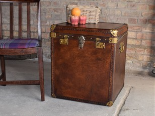 Leather Bound Trunk