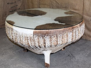 African Drum Coffee Table