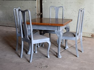 Painted Oak Dining Set