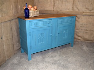 Painted Oak Dresser Base