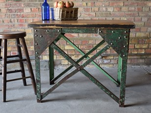 Industrial Steel Work Table