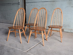 4 Ercol Windsor Light Elm Chairs