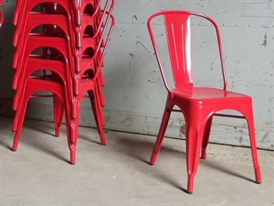 Red Tolix Stacking Chairs