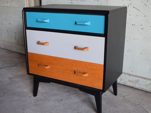 Retro G Plan Secretaire Chest